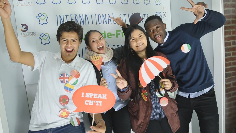 Welcome party for international students in Hauts-de-France